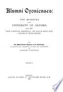 Alumni Oxonienses