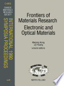 Frontiers of Materials Research  Electronic and Optical Materials