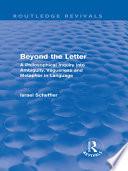 Beyond the Letter  Routledge Revivals