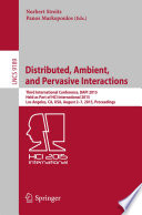 Distributed  Ambient  and Pervasive Interactions