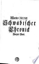 Martin CRUSII Schwäbischer Chronick Zweyter Band