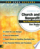 Zondervan Church And Nonprofit Tax & Financial Guide 2007
