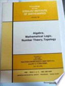 Algebra  Mathematical Logic  Number Theory  Topology