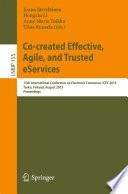 Co created Effective  Agile  and Trusted eServices