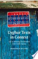 Uyghur Texts in Context