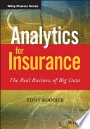 Ebook Analytics for Insurance Epub Tony Boobier Apps Read Mobile