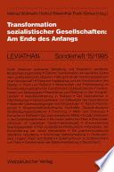 Transformation sozialistischer Gesellschaften: Am Ende des Anfangs