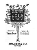 The Complete Works of John Keats: Lamia. Isabella & posthumous poems to 1818