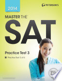 Master the SAT  Practice Test 3