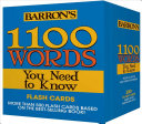 Barron s 1100 Words You Need to Know