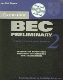 Cambridge BEC Preliminary 2 Self Study Pack