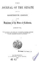 The Journal of the Senate     of the Legislature of the State of California     Book PDF