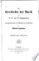 Die Geschichte der Musik des 17., 18. und 19. Jahrhunderts