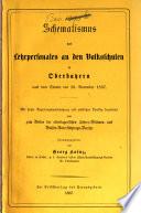 Schematismus des Lehrpersonales an den Volksschulen in Oberbayern nach dem Stande des 30. November 1867