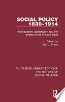 Social Policy 1830 1914