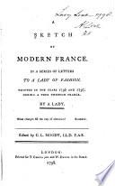 A Sketch Of Modern France