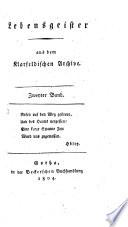 Lebensgeister aus dem Klarfeldischen Archive