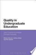 Quality in Undergraduate Education