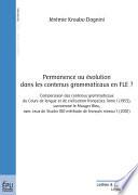 Permanence ou   volution dans les contenus grammaticaux en FLE