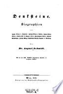 Denksteine. Biographien von Ignaz Ritter v. Seyfried ... W. A. Mozart (Sohn), (etc.)