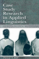 Case Study Research in Applied Linguistics