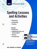 Elements Of Literature Grade 6 Spelling Lessons And Activities