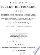 The New Pocket Dictionary  of the English and Spanish Languages