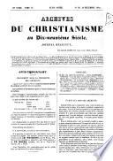 Archives du christianisme au dixneuvième siècle