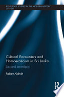 Ebook Cultural Encounters and Homoeroticism in Sri Lanka Epub Robert Aldrich Apps Read Mobile