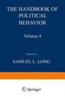 The Handbook of Political Behavior