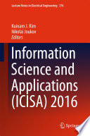 Information Science And Applications Icisa 2016