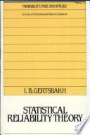 Statistical Reliability Theory