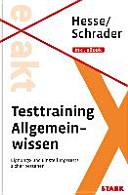 Testtraining Beruf & Karriere/Testtraining Allgemeinwissen