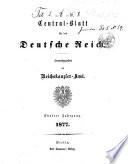 Zentral-blatt fèur das Deutsche Reich
