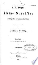 Kleine Schriften arch  ologischen und antiquarischen Inhalts
