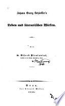 Johann Georg Schlosser's Leben und literarisches Wirken