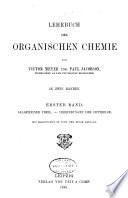 Lehrbuch der organischen chemie: Allgemeiner theil