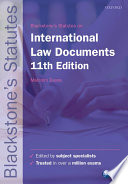 Blackstone s International Law Documents
