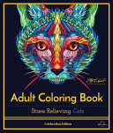 Adult Coloring Book: Stress Relieving Cats, Celebration Edition