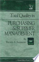 Total Quality in Purchasing and Supplier Management