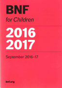 BNF For Children (BNFC) 2016-2017 : all healthcare professionals involved in the...