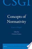 Concepts Of Normativity Kant Or Hegel