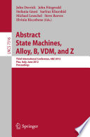 Abstract State Machines  Alloy  B  VDM  and Z