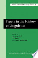 Papers in the History of Linguistics