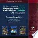 3rd Fib Congress Washington Usa