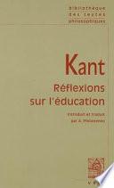 Réflexions sur l'éducation