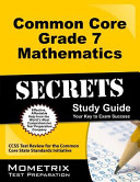 Common Core Grade 7 Mathematics Secrets Study Guide