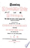 Sammlung Oesterreichischer Gesetze und Ordnungen
