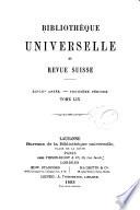 Biblioth  que universelle et revue suisse
