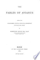 The Fables of Avianus  Edited  with Prolegomena  Critical Apparatus  Commentary  Excursus and Index